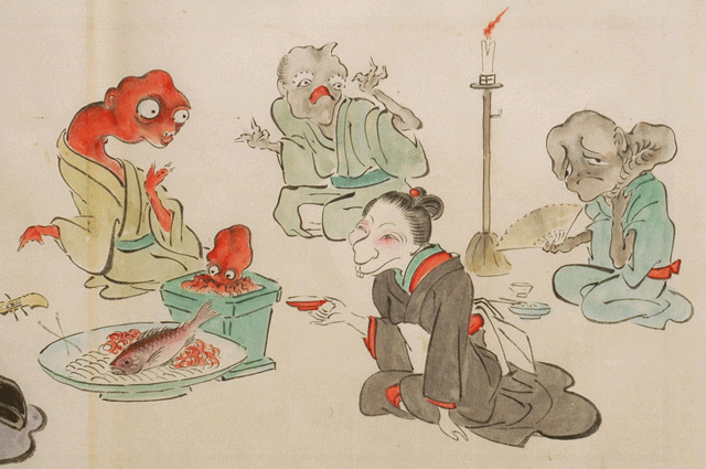 japanese-supernatural-creatures-yokai-marriage